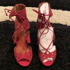 Scultz Clara Ruby Lace-up Heels 👠